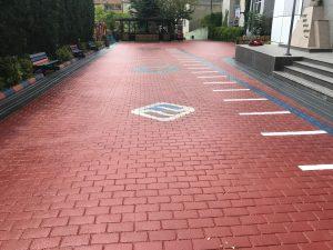renkli baskılı asfalt